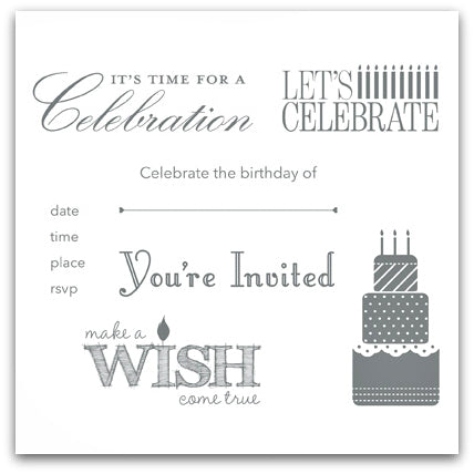 Make a Wish | Retired Wood Mount Stamp Set | Stampin' Up!