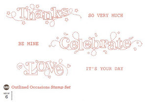 Outlined Occasions | Retired Wood Mount Stamp Set | Stampin' Up!
