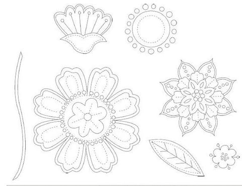 Playful Petals | Retired Wood Mount Stamp Set | Stampin' Up!