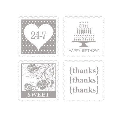 Pretty Postage | Retired Wood Mount Stamp Set | Stampin' Up!