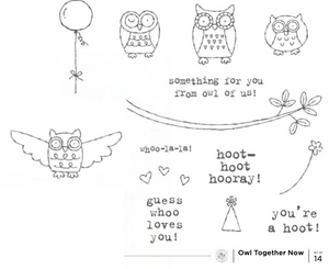 Owl Together Now | Retired Wood Mount Stamp Set | Stampin' Up!
