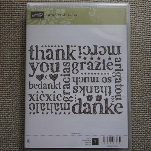 A World of Thanks | Retired Clear Mount Stamp Set