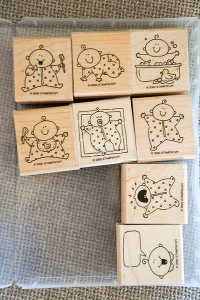 Baby Firsts | Retired Wood Mount Stamp Set