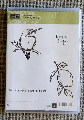 A Happy Thing | Retired Sale a Bration Clear Mount Stamp Set