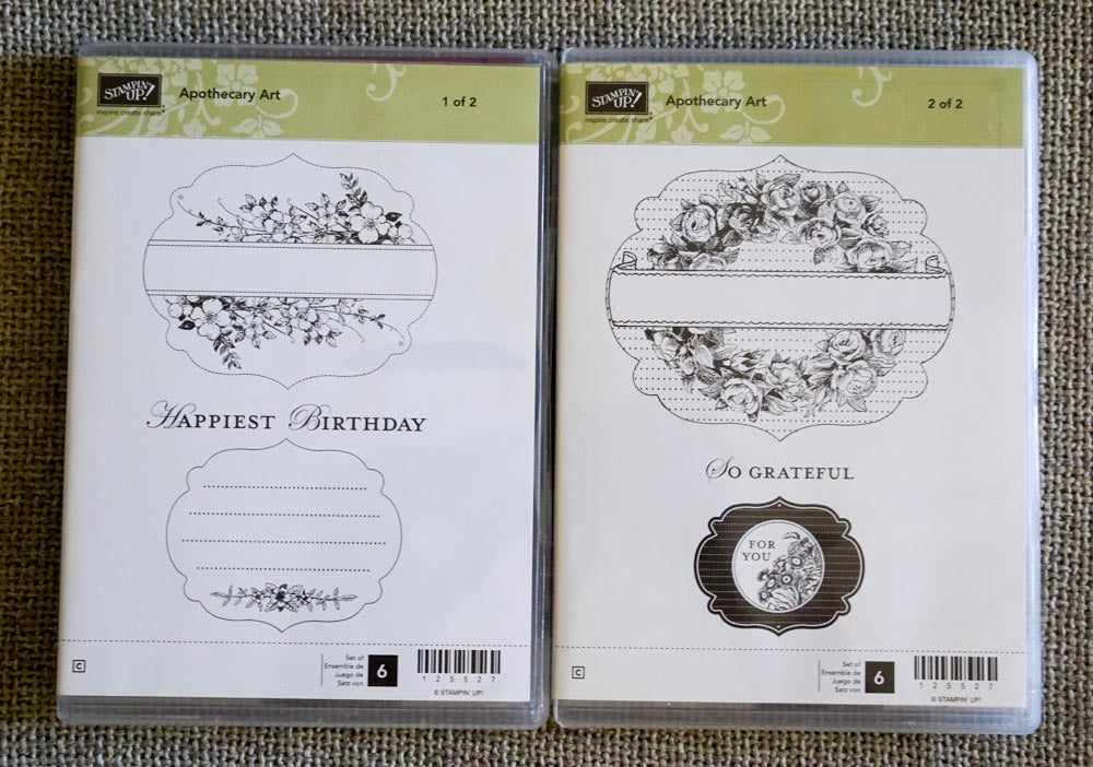 Apothecary Art (2 cases) | Retired Clear Mount Stamp Set