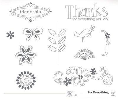 For Everything | Retired Wood Mount Stamp Set | Stampin' Up!