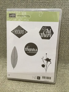 A Happy Hooray | UNUSED Retired Clear Mount Stamp Set