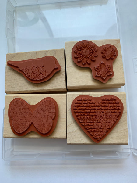 Punch Potpourri | Retired Wood Mount Stamp Set | Stampin' Up!