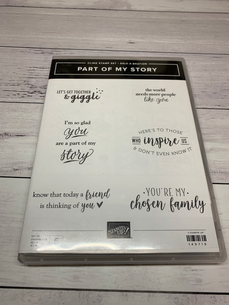Part of Mt Story | Used Sale-a-Bration 2019 | Retired Cling Mount Stamp Set | Stampin' Up!