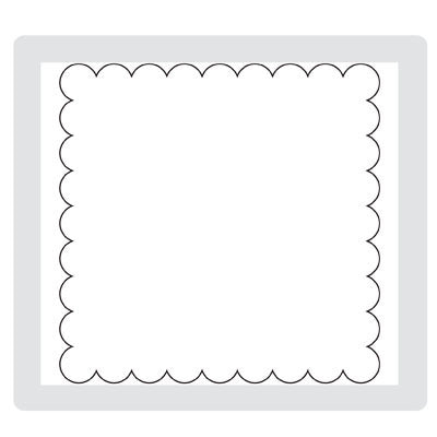 Square Scallop | Retired Stampin Up Sizzix Bigz Die | Stampin' Up!