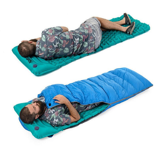 Inflatable Water Resistant Sleeping Pad With Pillow