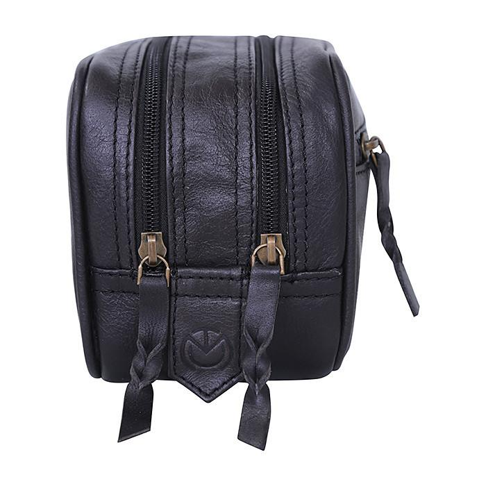 Voyager | Black Leather Travel Bag