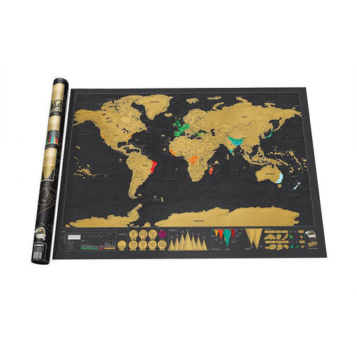 Black Scratch Off World Map