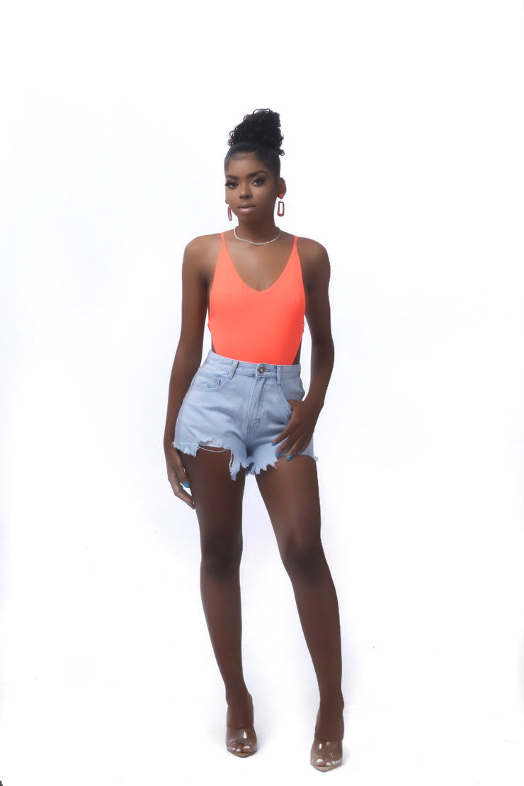 Body Me Neon Orange Bodysuit