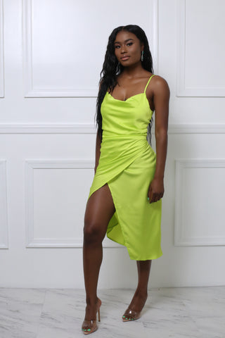 Bossy Neon Green Blazer Dress