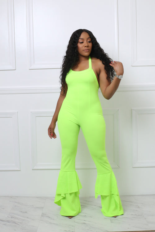 Bella Neon Green Jumpsuit