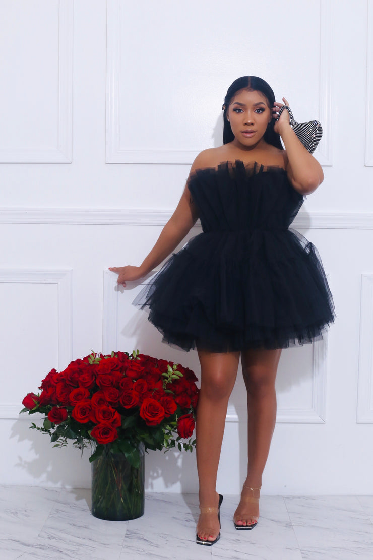 Dream Tulle Dress Black