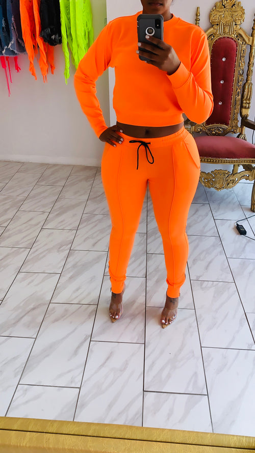 Royal Sweatsuit (Orange)