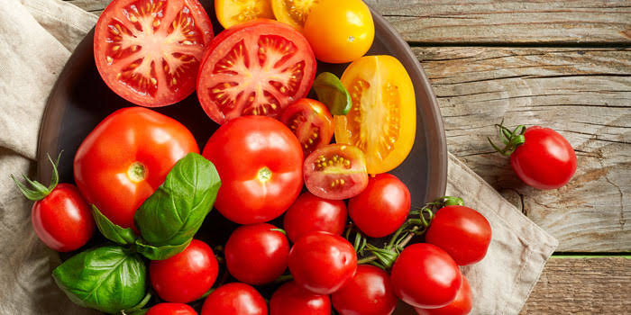 Tomatoes Healthy snack good for skin and complexion
