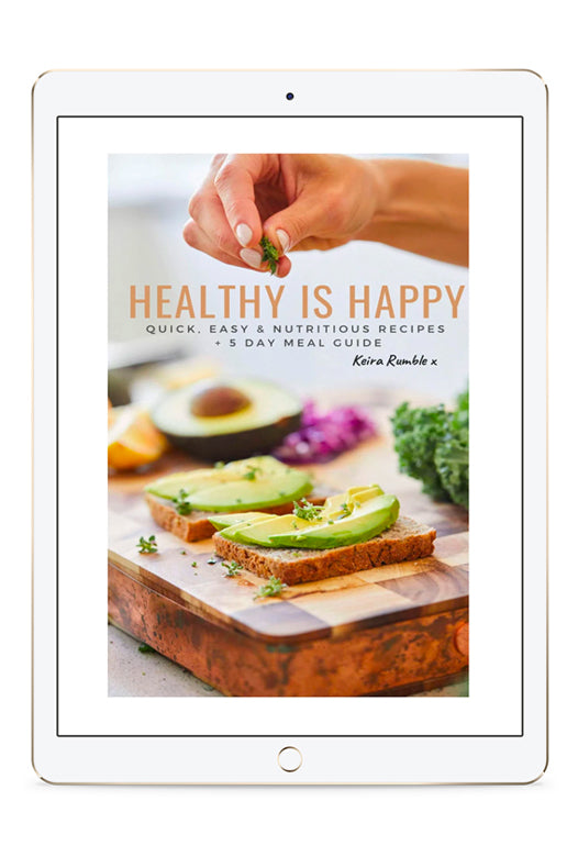 Healthy Is Happy E-Book + 5 Day Meal Guide