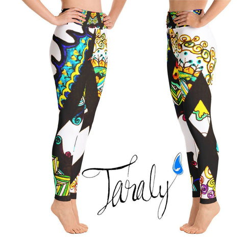 Kassylia handmade designer yoga leggings, exclusively by Taraly