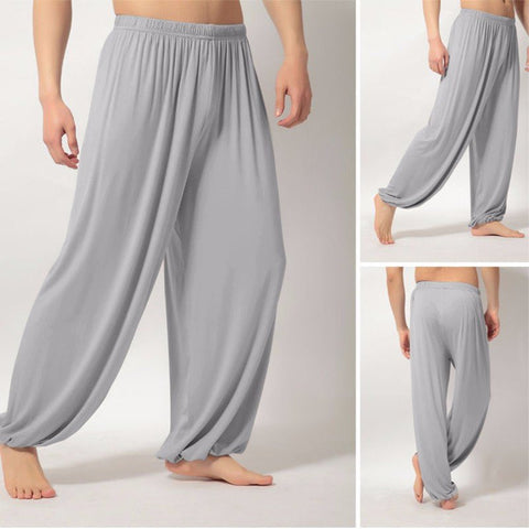Men's Lightweight Loose Yoga Pants Morning Practice Cozy Sports Pants