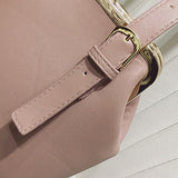 Women PU Leather Solid Bucket Bag Crossbody Bag Shoulder Bag
