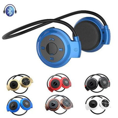 Universal Wireless Stereo Bluetooth Sport Music Earphone With Built-in Microphone