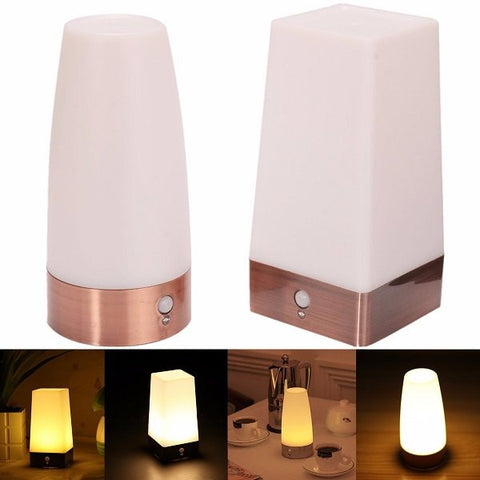Wireless PIR Motion Sensor Battery Operated LED Table Night Light Desk Lamp