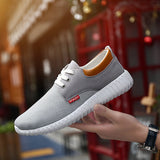 Men Mesh Fabric Breathable Shock Absorption Sneakers Sport Running Shoes