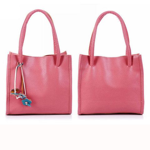 Women Casual Candy Color Retro Commuter Handbag