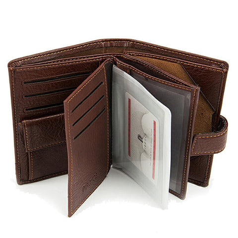 9 Card Holders Pu Leather Wallet Business Card Holder Coin Bag For Men