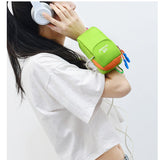 Women Dual Use Sport Running Arm Bag Fitness Bag Outdoor Nylon Crossbody Bag Waist Bag