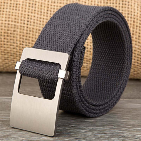 140CM Men Women Weaven Canvas Alloy Buckle Belt Military Waistband Casual Outdoor Sport Pants Strip