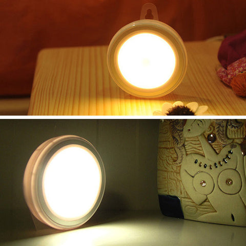 Infrared Wireless Motion & Light Sensor LED Lamp Battery Powered Night Light For Hallway