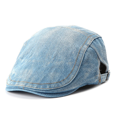 Men Women Middle-Aged Beret Peaked Cap Jean Cowboy Hat Cotton Advance Casual Hats