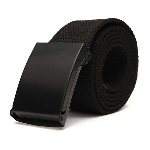 Men Women Plain Webbing Fashion Waist Belt Waistband Casual Canvas Belt