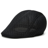 Men Women Mesh Beret Cap Outdoor Sports Golf Cabbie Peaked Hats