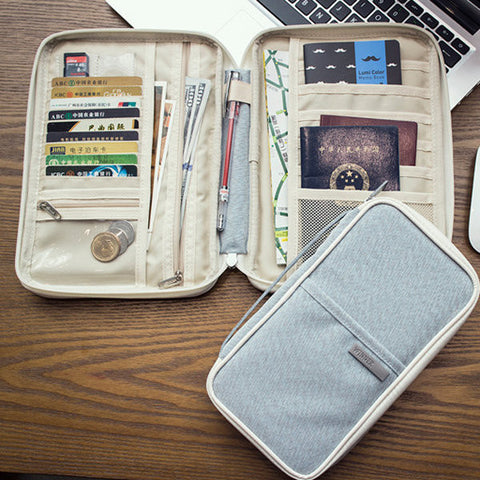 Multi-slots Travel Passport Holder Organizer Cover ID Card Bag Passport Wallet Phone Storage Bag