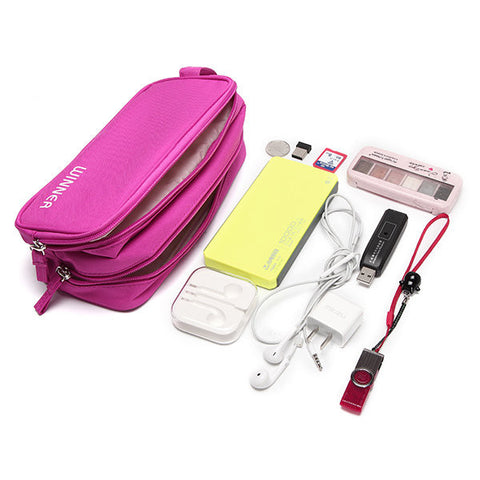 Waterproof Nylon Travel Storage Bag Digital Accessories Hanging Bag For Women Men