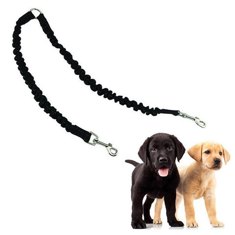 Adjustable Hand Double Dog Leash Rope Coupler Two Way Braid Pet Dogs Training Traction Walking Strap