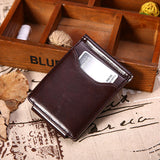 Business Pu Leather Wallet 6 Card Slots Card Holder Hasp Coin Bag For Men