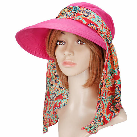 Summer Outdoor Sun Protective Gardening Hat Sun Hat Anti-UV Wide Brim Visor Cap