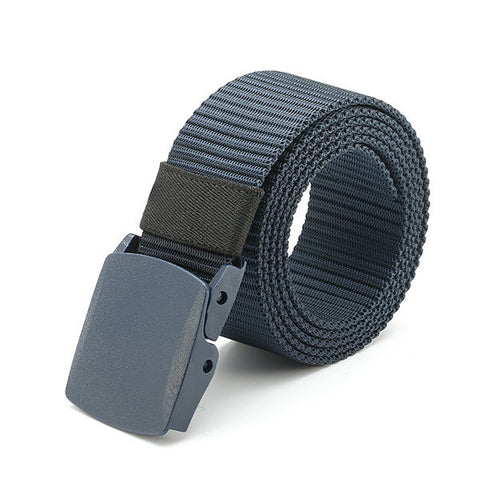 120CM Men Women Nylon Belt Military Tactical Durable Buckle Pants Casual Strip