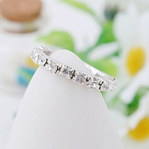 Full Crystal Rhinestone Finger Ring