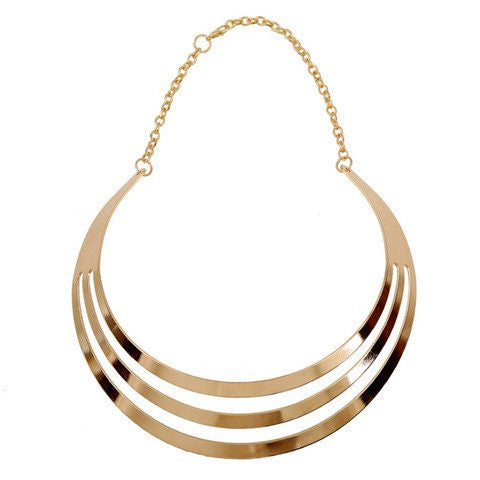 WOMEN MULTILAYER STATEMENT PUNK NECKLACE