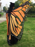 Chiffon Beach Butterfly Wing Print Shawl For Women