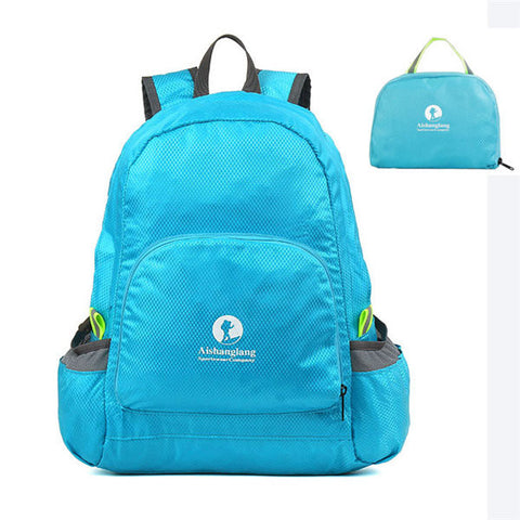 Nylon Folding Light Backpack Casual Sports Travel Shopping Bag Shoulder Bags