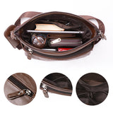 Men Business Vintage Multi-pocket Comfortable PU Leather Shoulder Bags Crossbody Bags