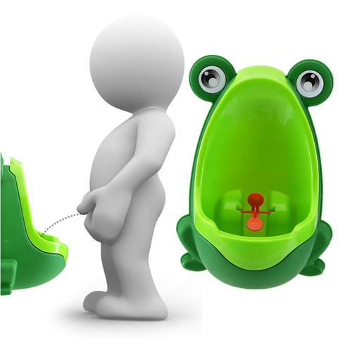Lovely Frog Children Kids Potty Removable Toilet Urinal Early Learning Boys Pee Trainer Bathroom
